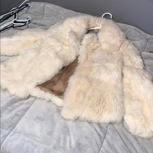 Jackets & Coats - Real white rabbit fur coat